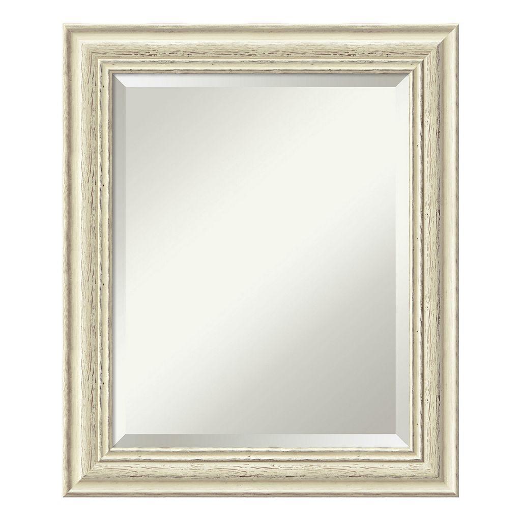 Amanti Art Country Whitewash Medium Wall Mirror