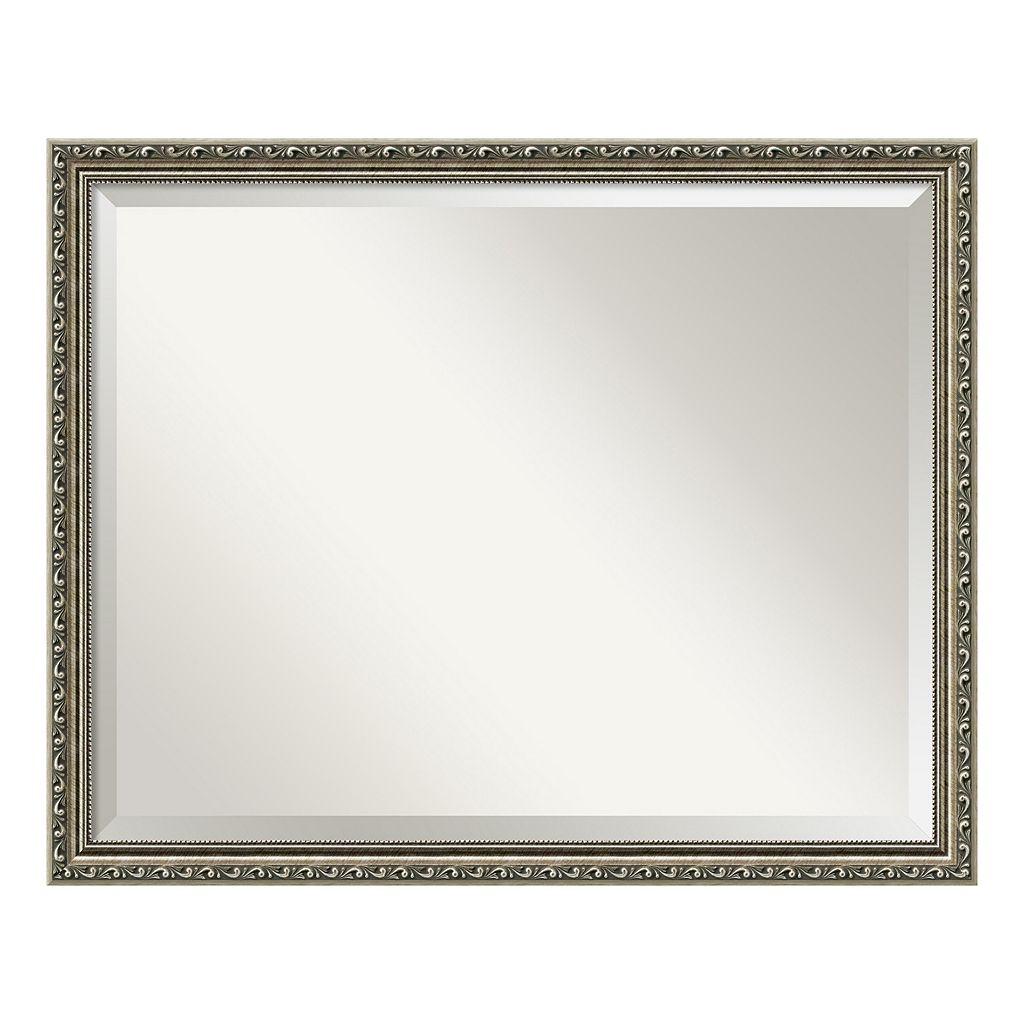 Amanti Art Parisian Pewter Finish Large Wall Mirror