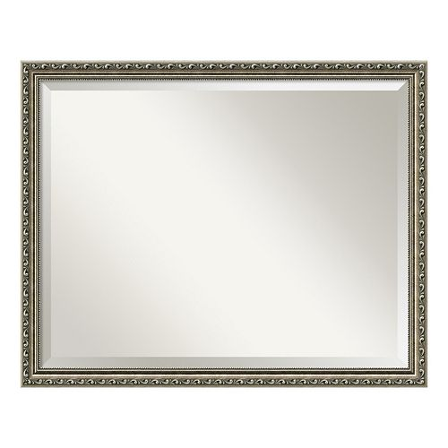 Amanti Art Parisian Pewter Finish Large Wall Mirror