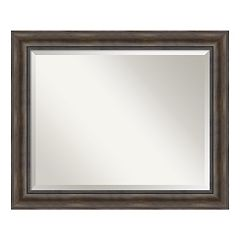 Amanti Art Rustic Pine Finish Large Wall Mirror