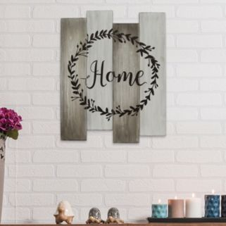"Stratton Home Decor ""Home"" Wood Plank Wall Decor"