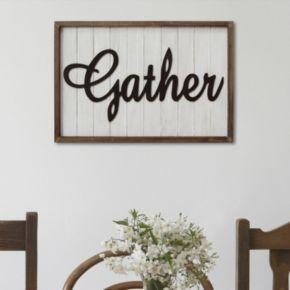 "Stratton Home Decor ""Gather"" Farmhouse Framed Wall Decor"