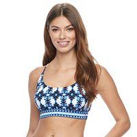 Women's Apt. 9® Geometric Crisscross Bikini Top