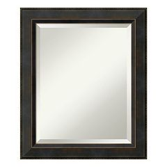 Amanti Art Signore Espresso Medium Wall Mirror