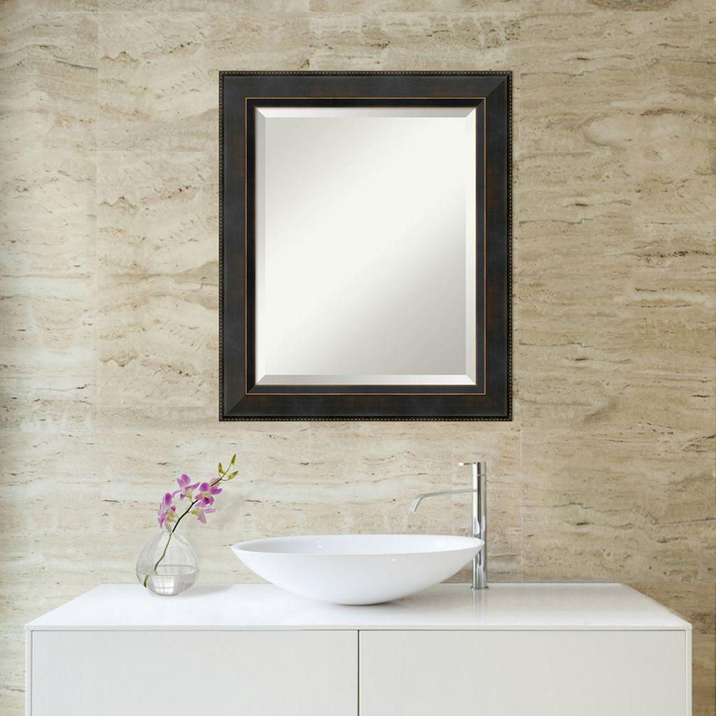 Amanti Art Signore Espresso Medium Wall Mirror