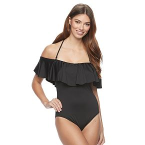 Women's Apt. 9® Off-the-Shoulder One-Piece Swimsuit
