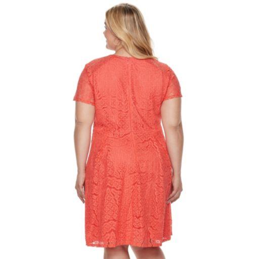Plus Size Apt. 9® Lace Fit & Flare Dress