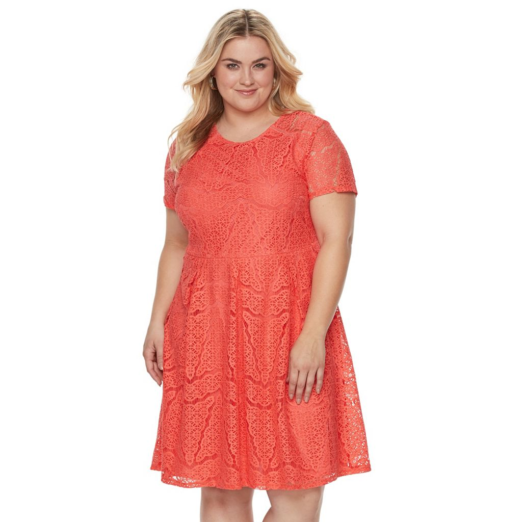 Plus Size Apt. 9® Lace Fit & Flare Dress