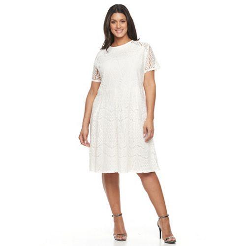 Plus Size Apt 9 174 Lace Fit Amp Flare Dress