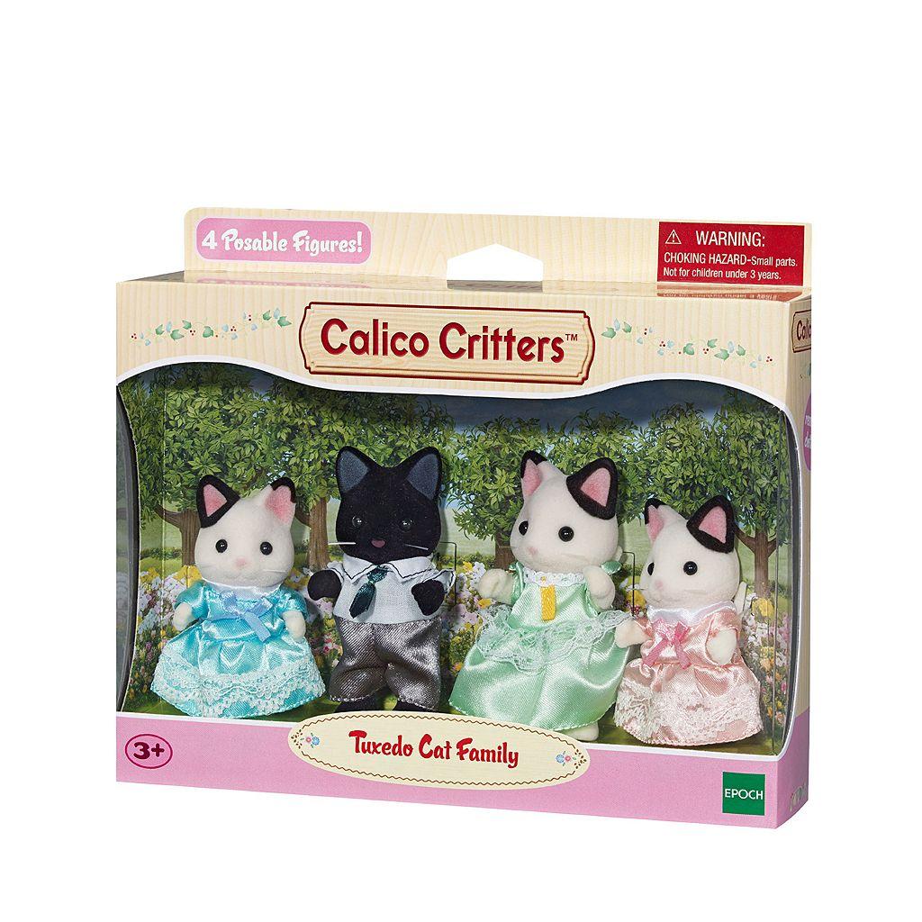 Calico Critters Tuxedo Cat Family Set