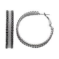 Glittery Cup Chain Hoop Earrings