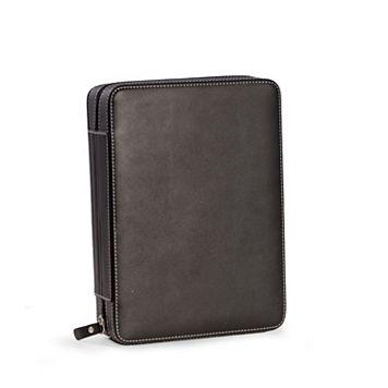Bey-Berk Leather Black 8-Slot Watch Storage Case