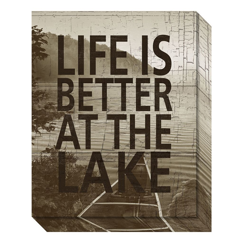 Life Is Better At The Lake Canvas Wall Art