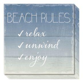 Beach Rules Canvas Wall Art