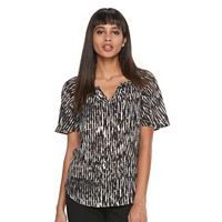 Petite Apt. 9® Pleated Flutter Sleeve Top