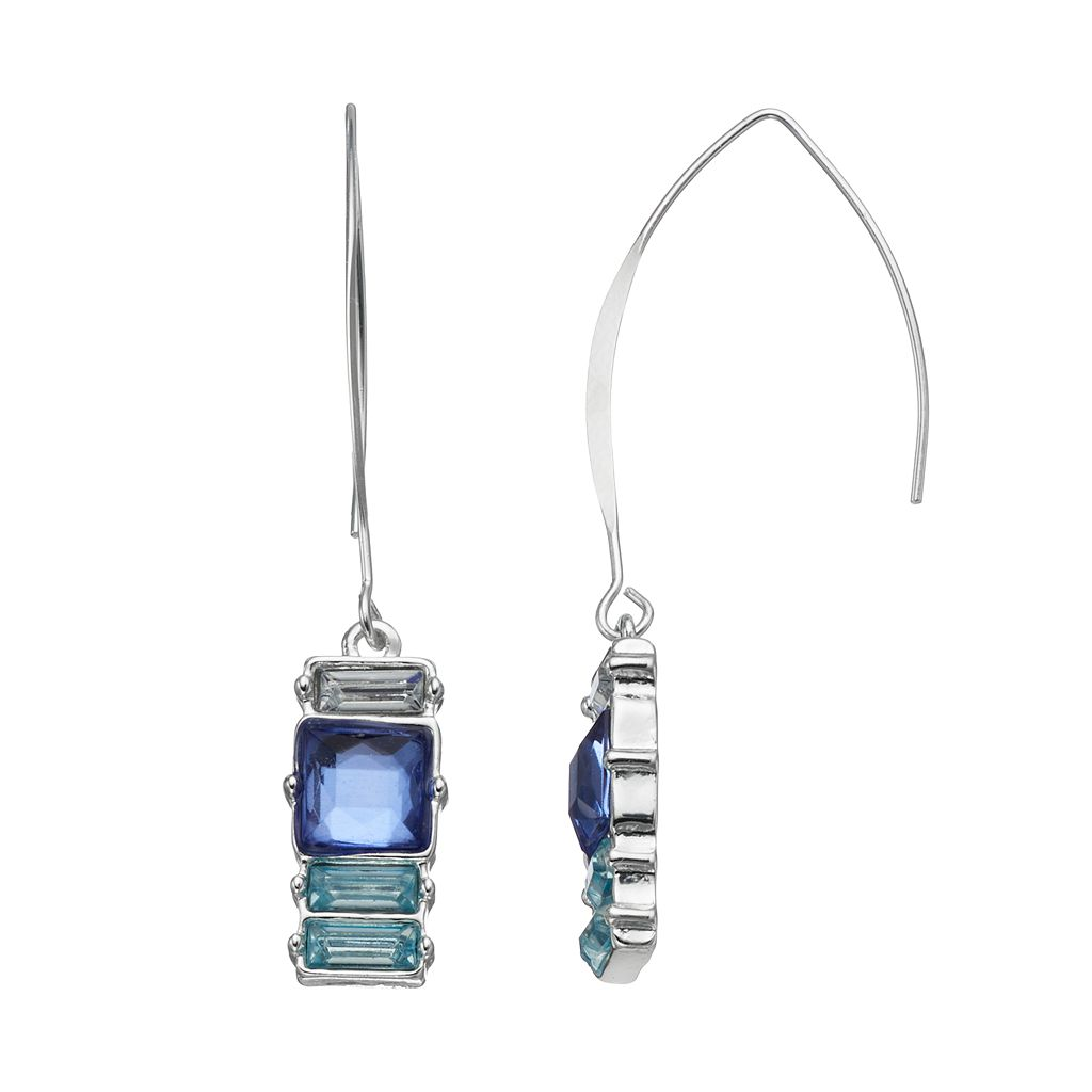 Jennifer Lopez Blue Simulated Crystal Threader Earrings