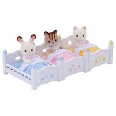 Calico Critters Triple Baby Bunk Beds Set