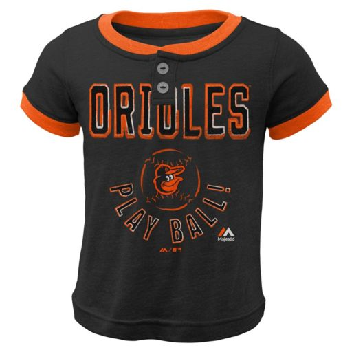 Boys 4-7 Majestic Baltimore Orioles Play Ball Ringer Tee