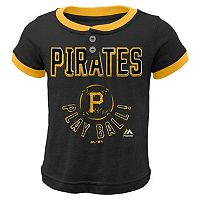 Boys 4-7 Majestic Pittsburgh Pirates Play Ball Ringer Tee