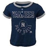 Boys 4-7 Majestic New York Yankees Play Ball Ringer Tee