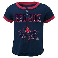 Boys 4-7 Majestic Boston Red Sox Play Ball Ringer Tee
