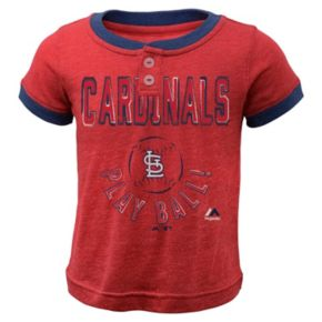 Boys 4-7 Majestic St. Louis Cardinals Play Ball Ringer Tee