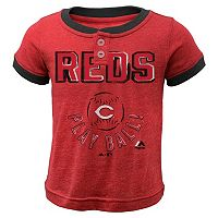 Boys 4-7 Majestic Cincinnati Reds Play Ball Ringer Tee