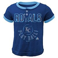Boys 4-7 Majestic Kansas City Royals Play Ball Ringer Tee