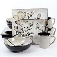 Gibson Elite Claretta 16-pc. Square Dinnerware Set