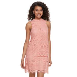 Juniors' Love, Fire Lace Shift Dress