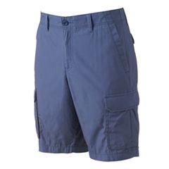 Big & Tall Apt. 9® Modern-Fit Solid Poplin Cargo Shorts