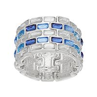 Jennifer Lopez Blue Rectangular Stretch Ring