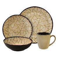 Gibson Elite Zambezi 16 pc Round Dinnerware Set