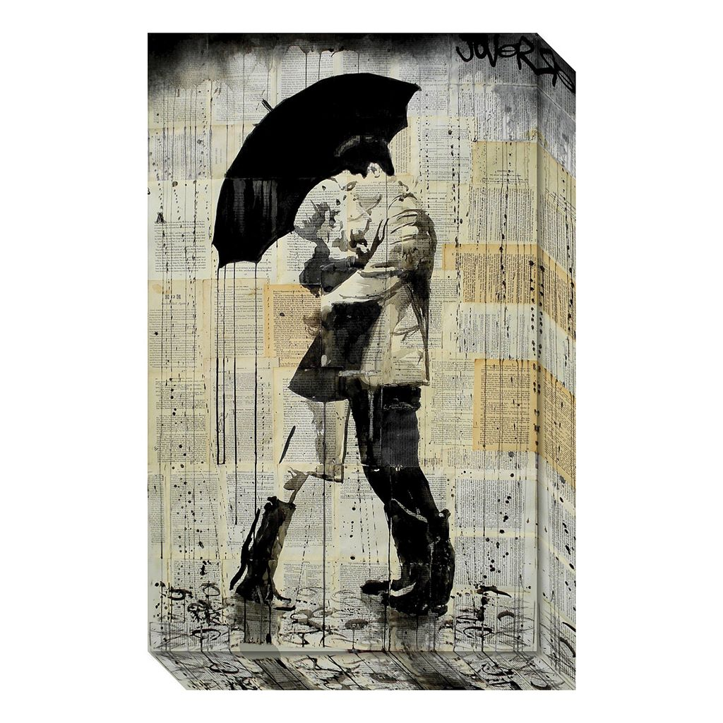Amanti Art The Black Umbrella Canvas Wall Art
