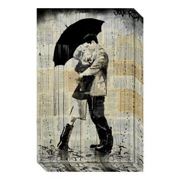 Amanti Art The Black Umbrella Canvas Wall Art