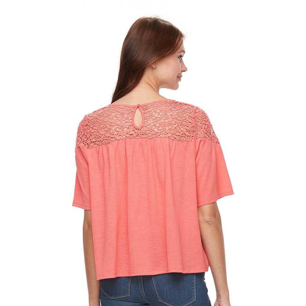Women's Apt. 9® Textured Crochet Tee