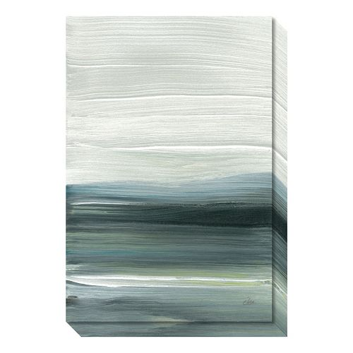 Amanti Art Silver Silence: Opal Sky Canvas Wall Art