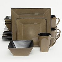 Gibson Elite Kiesling 16 pc Hard Square Dinnerware Set