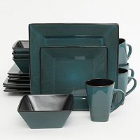 Gibson Elite Kiesling 16-pc. Hard Square Dinnerware Set