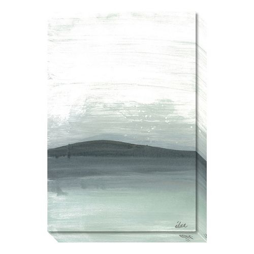Amanti Art Silver Silence: The Mountain Canvas Wall Art
