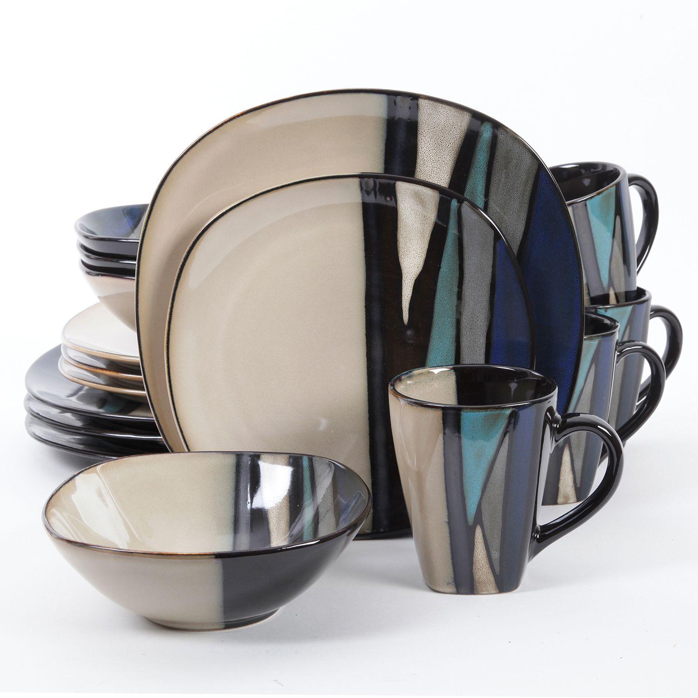 Round Dinnerware Set  sc 1 st  Kohlu0027s & Blue Stoneware Dinnerware Sets Dinnerware u0026 Serveware | Kohlu0027s