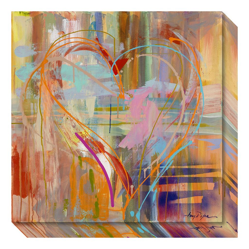 Amanti Art Abstract Heart Canvas Wall Art