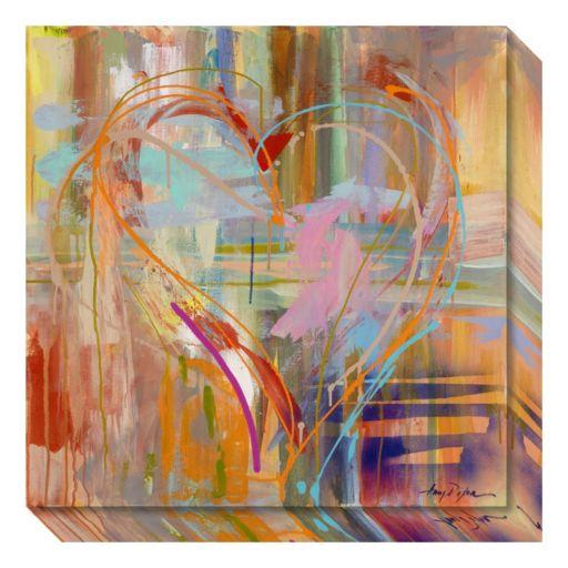 Amanti Art Abstract Heart Canvas Wall Art