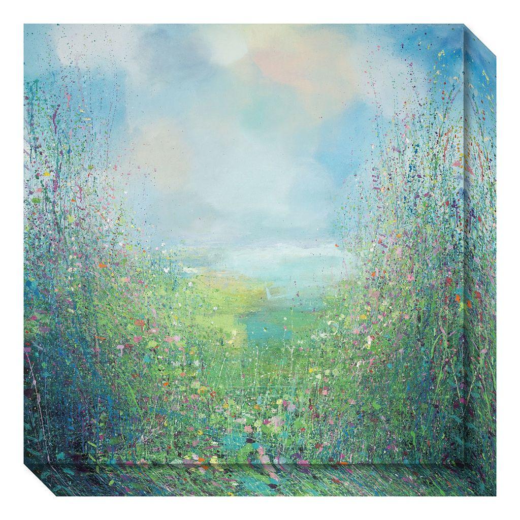 Amanti Art Flower Field Canvas Wall Art