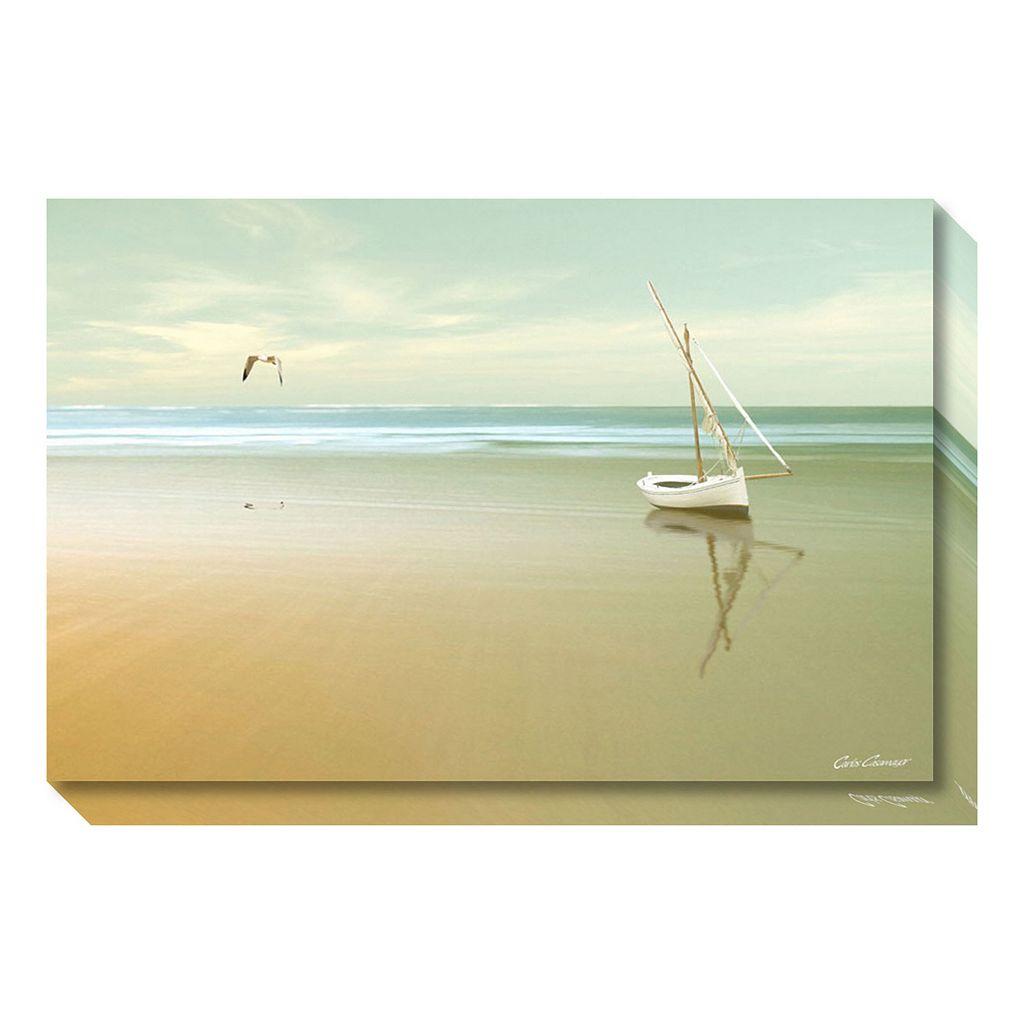 Amanti Art Soft Sunrise on the Beach Canvas Wall Art