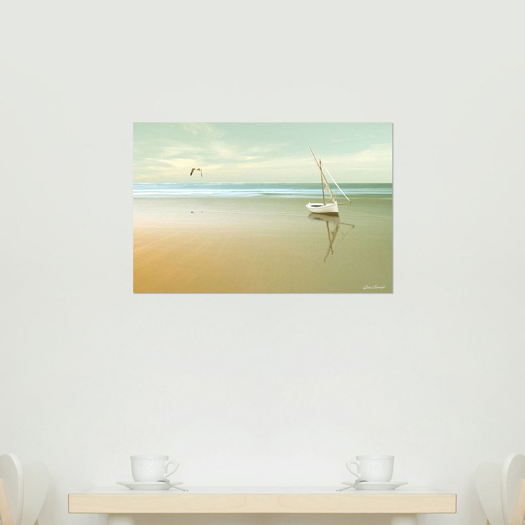 Amanti Art Soft Sunrise on the Beach Canvas Wall Art