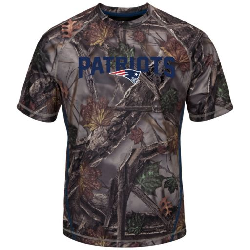 Big & Tall Majestic New England Patriots The Woods Camo Tee