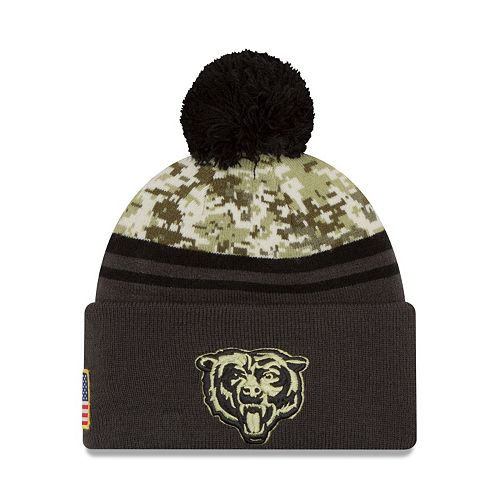 e786e196 Adult New Era Chicago Bears Salute to Service Camo Beanie
