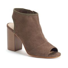 Apt. 9 Women's Stretch Peep-Toe Ankle Boots by