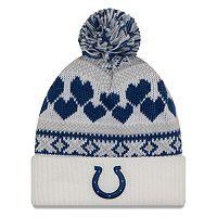 Women's New Era Indianapolis Colts Fairisle Pom Pom Knit Hat